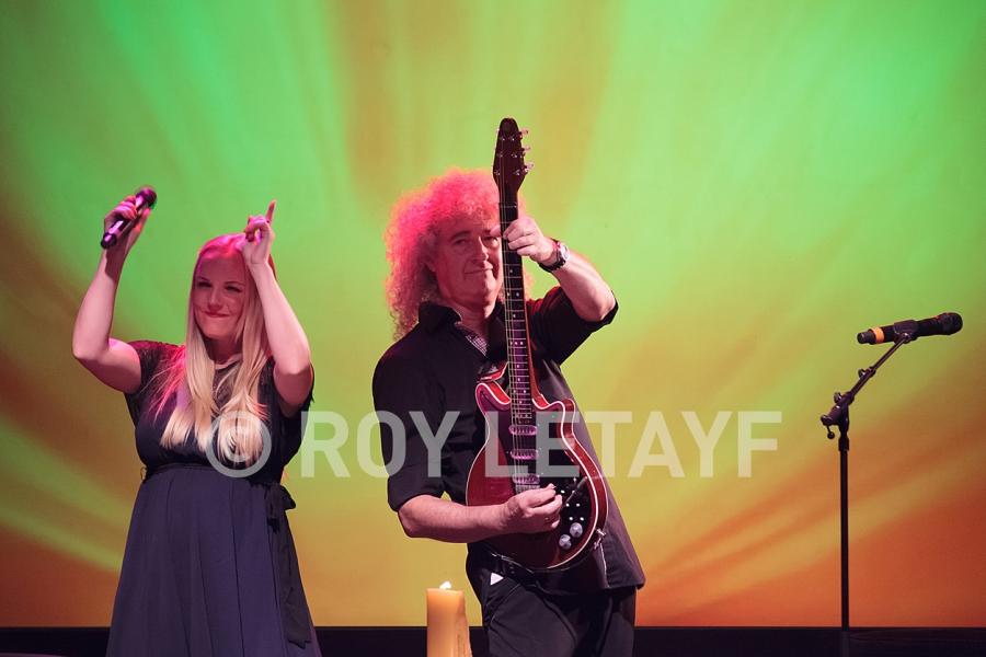 Brian May; Queen; Kerry Ellis; Stuart Morley; La Cigale; Paris; 08 07 2013; photo: Roy Letayf