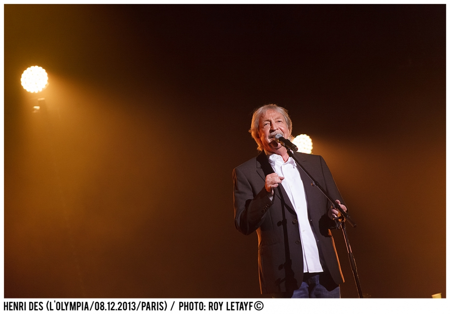 Henri Dès; L'Olympia; Paris; 08 12 2013; photo: Roy Letayf