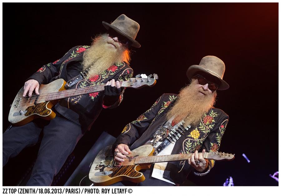 ZZ TOP; Billy Gibbons; Dusty Hill; Frank Beard; Zenith; Paris; France; 18 06 2013; photo: Roy Letayf